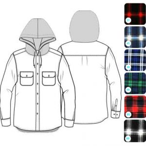 Flannelette-Shirt-With-Hood---Double-Brushed