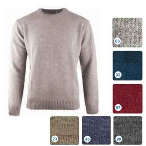 Shetland-Wool-Crew-Neck-Pullover