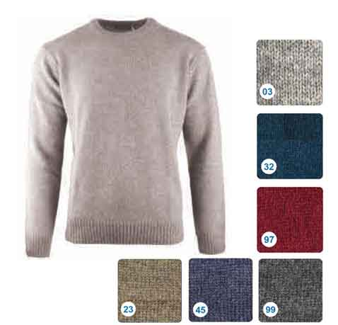 Shetland-Wool-Crew-Neck-Pullover