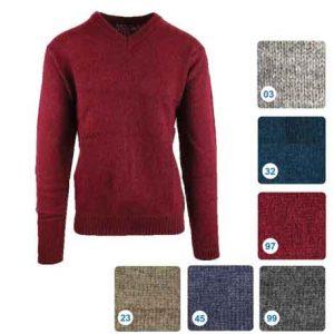 Shetland-Wool-V---Neck-Pullover