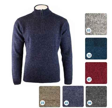 Shetland-Wool-Zip-Pullover